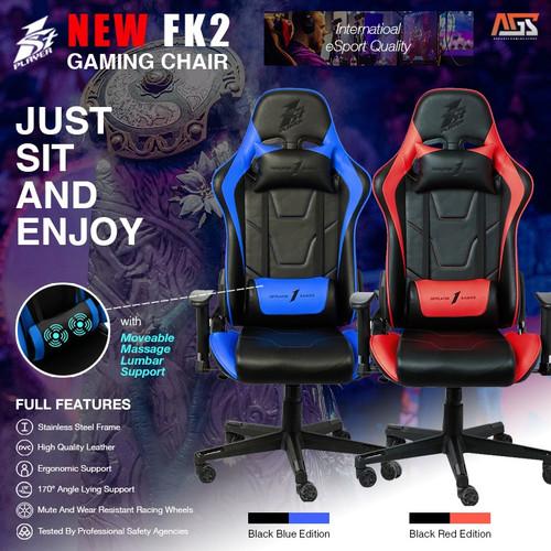 Foto Produk 1STPLAYER GAMING CHAIR - MODEL FK2 (lumbar massage) - KURSI GAMING - Biru dari Apparel Gaming