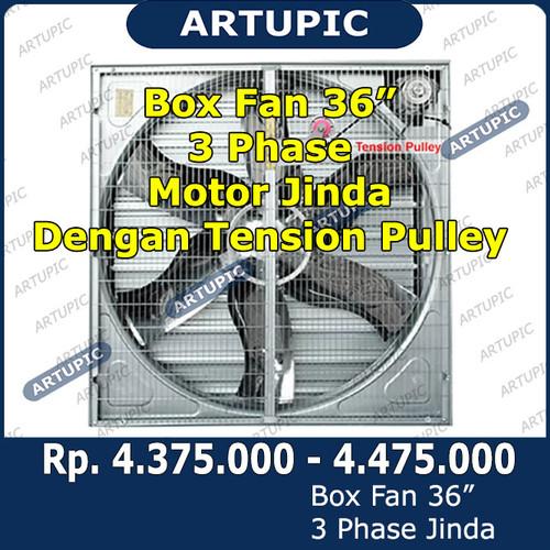 Foto Produk Box Fan 36 inch 3 Phase Motor Jinda Exhaust Fan Kandang Ayam Pedaging dari ArtupicPeralatanPeternak