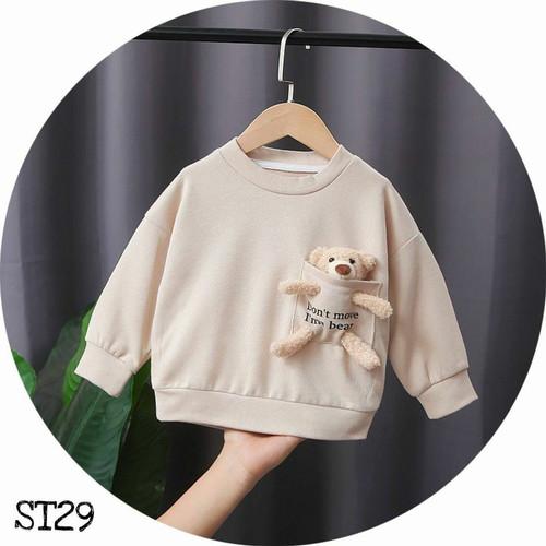 Foto Produk Sweater Anak Teddy - Beige, S dari POPSIKEL Kids & Baby Stuff