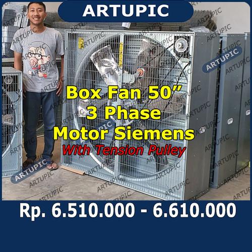 Foto Produk Box Fan 50 Inch 3 Phase Motor Siemens dengan Tension Pulley Exhaustfan dari ArtupicPeralatanPeternak