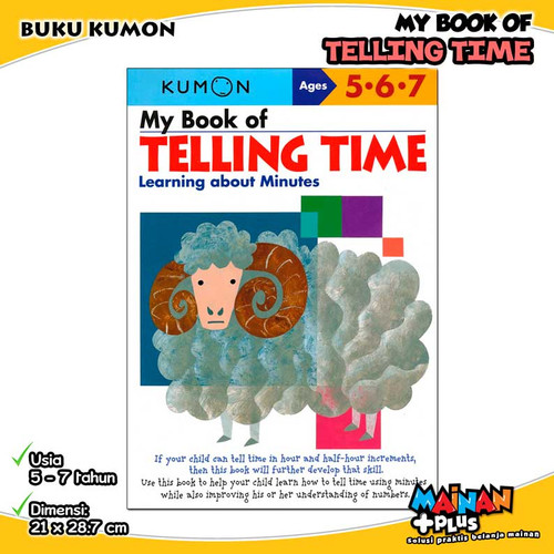 Foto Produk BUKU ANAK KUMON MY BOOK OF TELLING TIME 5 6 7 dari MainanPlus
