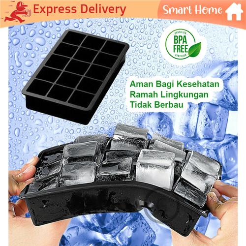 Foto Produk Cetakan Es Batu Silikon Kotak Besar Free BPA 15 Lubang dari Galaxy Hobi