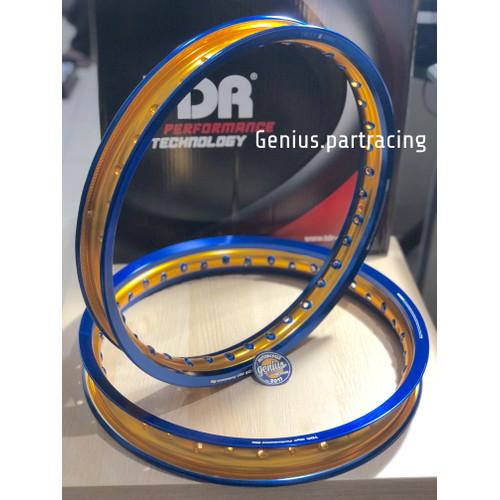 Foto Produk Velg TDR W Shape 160/185 Ring 17 Blue Gold Series Twotone Original dari genius.partracing