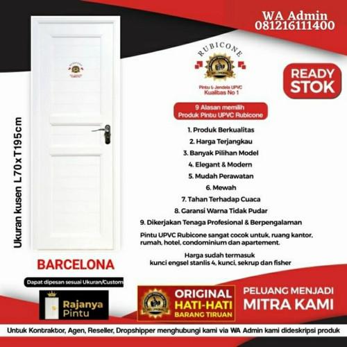 Foto Produk Pintu UPVC Rubicon Batcelona RC 15 - Engsel Kiri, Kunci Bulat Eng dari rajanyapintusby