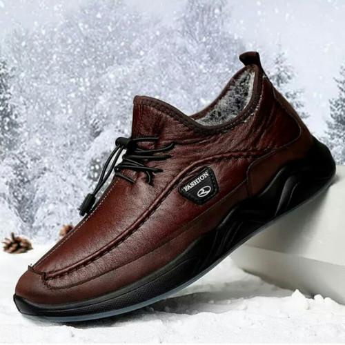 Foto Produk sepatu pria casual klasik / sepatu pria kulit asli - Cokelat, 39 dari KURCACI15store