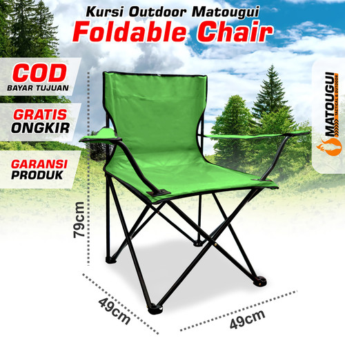 Foto Produk Kursi Lipat Outdoor Matougui Portable Chair KS8405 - Hijau dari first tactical