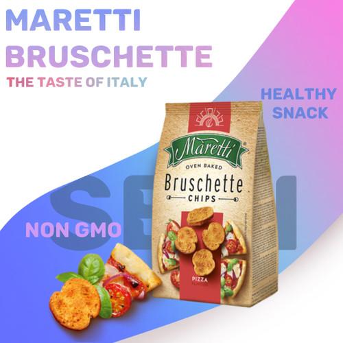 Foto Produk Maretti Bruschette / Chips Snack Roti Kering Impor 70gr - Pizza dari Sirup Markisa Asli GK