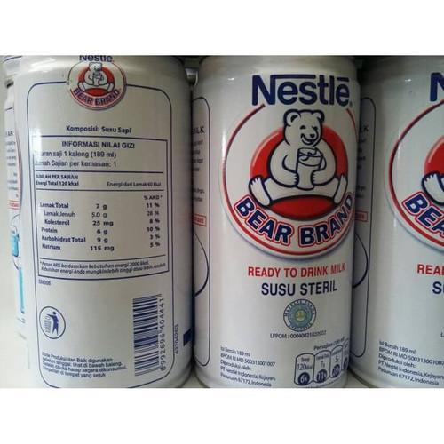 Foto Produk SUSU STERIL/murni NESTLE BEAR BRAND 189ML dari iwa88grocery store