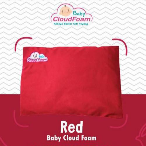 Foto Produk BANTAL BAYI ANTI PEYANG ORIGINAL BABY CLOUDFOAM KULIT KACANG HIJAU - Merah dari @M_Store