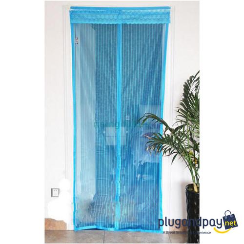 Foto Produk Tirai Pintu Magnetik Magnet Anti Mosquito Mesh Net Selambu Magnet dari plugandpay