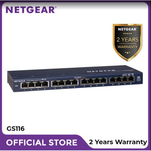 Foto Produk Netgear GS116 Port Gigabit Ethernet Unmanaged Switch dari Netgear Store