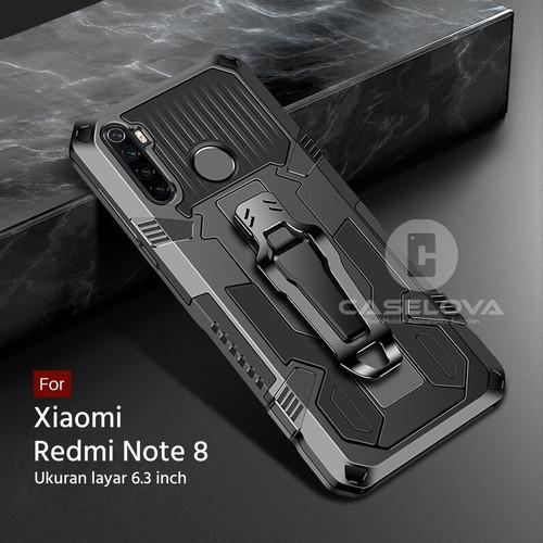 Foto Produk Hard Case Xiaomi Redmi Note 8 Rugged Armor Robotic Kickstand - Hitam dari Caselova Store