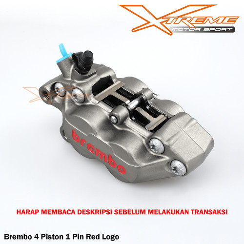 Foto Produk Kaliper Kiri Brembo 4 Piston 1 Pin Gray Sebelah Kiri Ready Stok - Gray dari Xtreme Motor Sport
