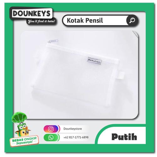 Foto Produk Tempat Pensil / Kotak Pensil Sekolah Kantor Simple Transparan Premium - Putih dari Dounkeys