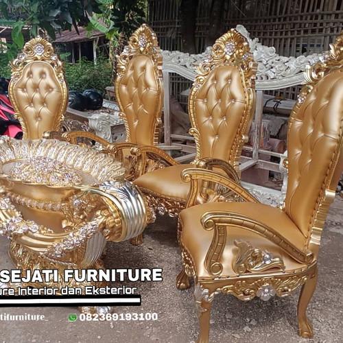 Foto Produk Meja makan model luxury jati mewah dari Putra Sejati Furniture