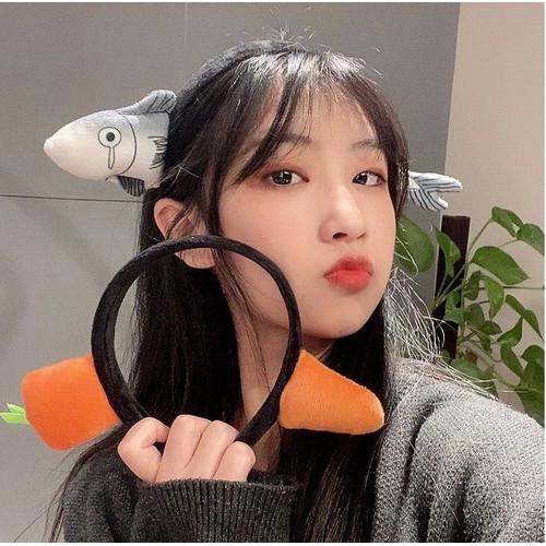 Foto Produk IK120 Bando Wanita Carrot and Fish - carrot dari EnnWen Online Store