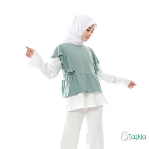 Foto Produk Atasan Muslim Wanita  Bora Blouse Hijau   Tazkia Hijab Store - Size 1 dari Tazkia Hijab Store