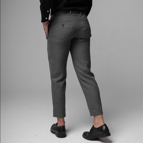 Foto Produk Broodis Celana Ankle Dark Grey Pants Best Seller - Ankle Dark Grey, 30 dari Broodis