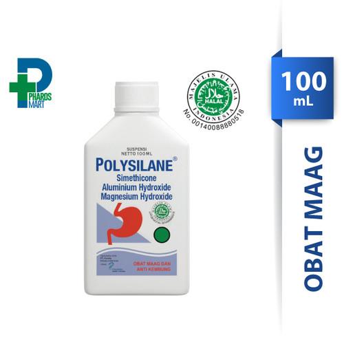 Foto Produk Polysilane Sirup / Suspensi 100 mL Obat Maag dan Kembung dari Pharos Official Store