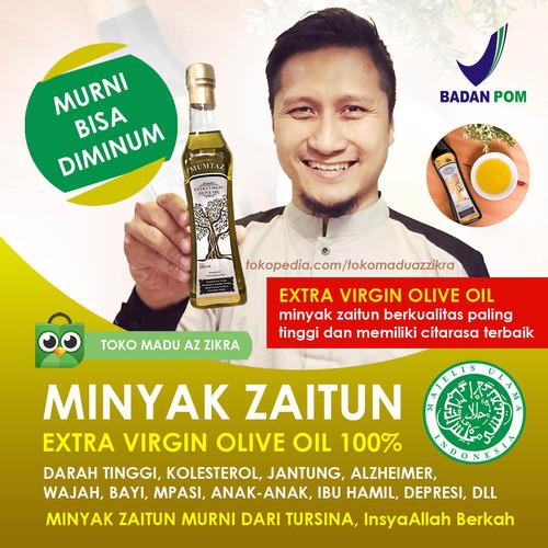 Foto Produk Minyak Zaitun Asli Murni EVOO Extra Virgin Olive Oil Mpasi Mumtaz - 60 ML dari AZ ZIKRA HERBA OFFICIAL