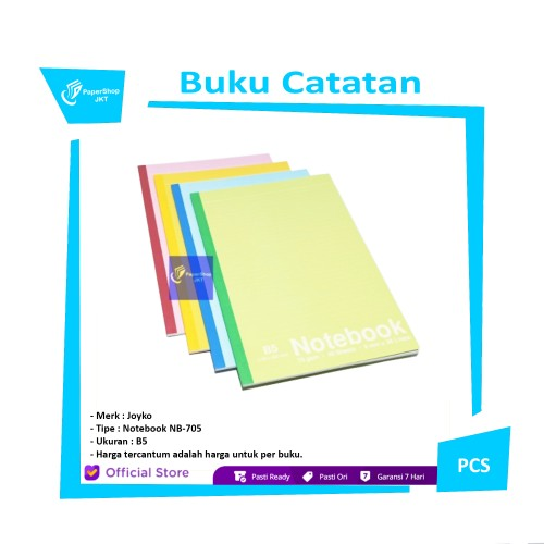 Foto Produk JOYKO Buku Catatan B5 Notebook NB-705 [ PER BUKU ] dari Paper Shop Jkt