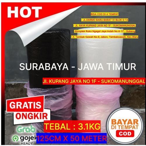 Foto Produk Bubble Wrap Roll Tebal Hitam Bening Putih Surabaya Barat Murah - BENING, TEBAL 2KG dari Bubble Wrap Surabaya Barat