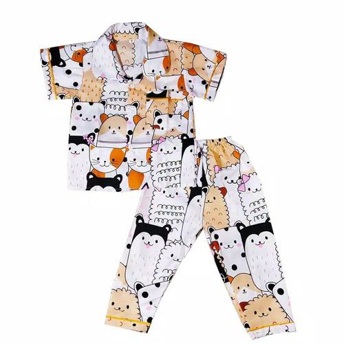 Foto Produk piyama anak / baju tidur anak motif laki laki perempuan - 0-9 bulan, motif cwe dari fatimah kids