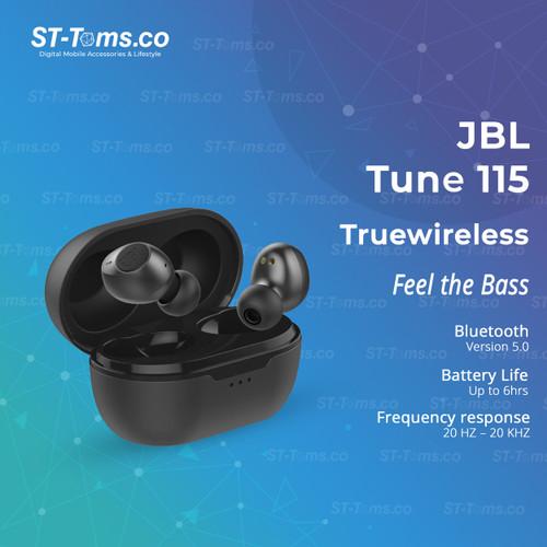 Foto Produk JBL Tune 115 TWS True Wireless Earphone Headset Earbuds - Hitam dari ST-Toms.co