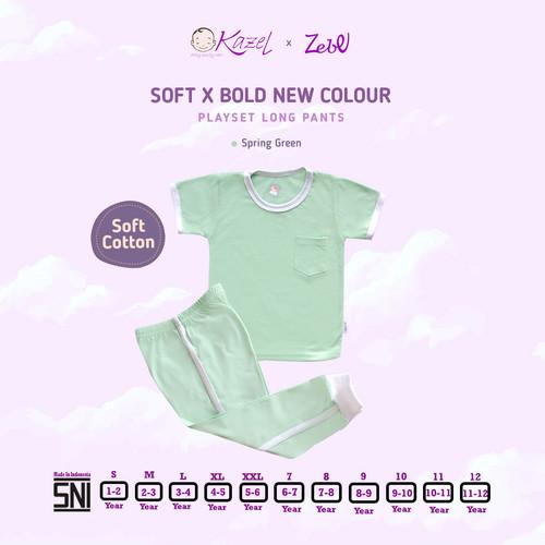 Foto Produk Kazel Playset Longpants New Colour - Pocket Unisex Edition 1-5thn - SPRING GREEN, UK S dari Kazel Babywear