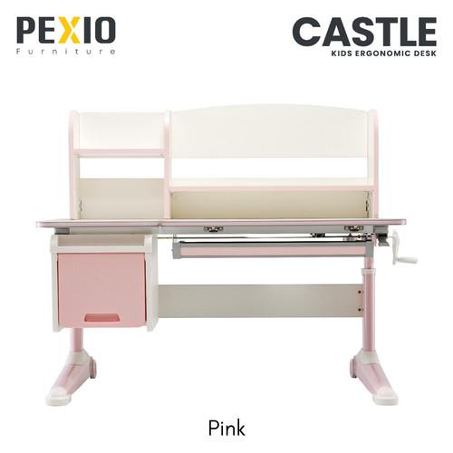 Foto Produk Meja Ergonomic Anak | Ergonomic Study Desk For Kids | Castle | PEXIO - Merah Muda dari PEXIO