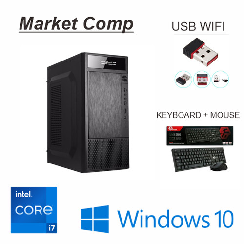 Foto Produk PC Rakitan Core i7 SSD RAM 8GB - CPU Komputer Kantor Siap Pakai dari Market Computer