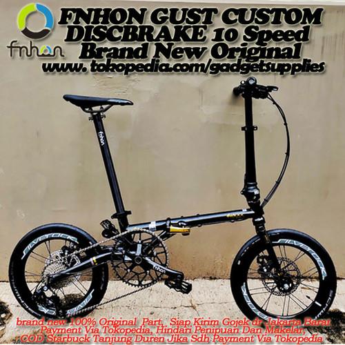 Foto Produk Sepeda Lipat Fnhon Gust Black Gold Spesial Edition Custom - Hitam Kojak dari JUALGADGETS
