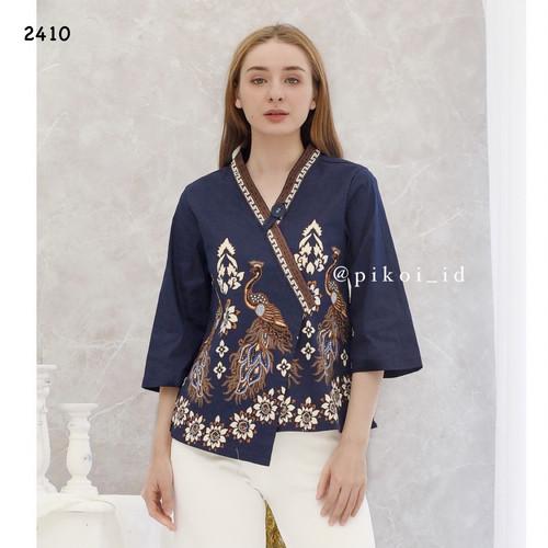 Foto Produk Baju Batik Wanita Modern / Batik Kantor Murah / Atasan Batik Kerja 791 - NAVY (AA2410) dari Pikoi_id
