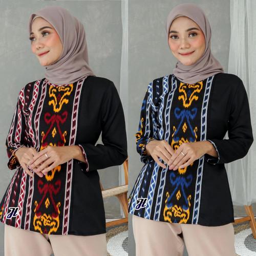 Foto Produk Batik Wanita Modern - Blouse Batik Wanita - Atasan Batik dari Batik Rifqi