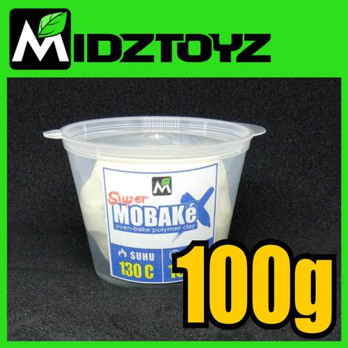 Foto Produk Super Mobake X - oven bake Polymer Clay - SMeX PUTIH 100g dari Midztoyz