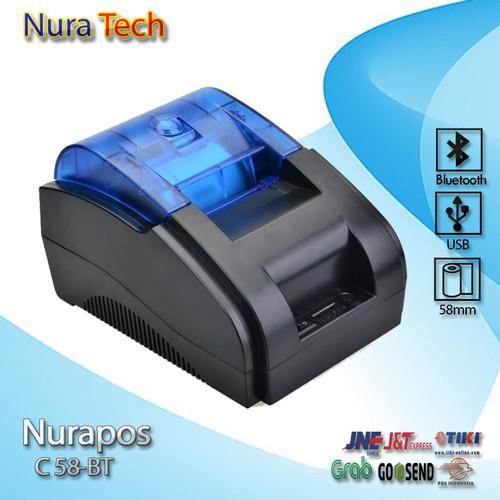 Foto Produk Printer Thermal Bluetooth - USB NURAPOS NP-58BT bergaransi dari nura tech