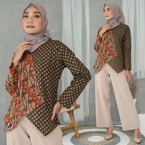 Foto Produk Blouse batik/Baju Batik Wanita/Blus Batik/Baju Kantor dari Batik Rifqi