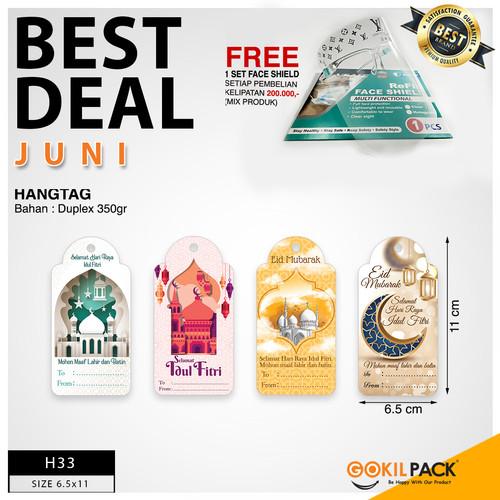 Foto Produk Hangtag Idul Fitri|Hangtag Murah|Hangtag Hari Raya|Hangtag|6x12|H33 - H33 dari GokilPack