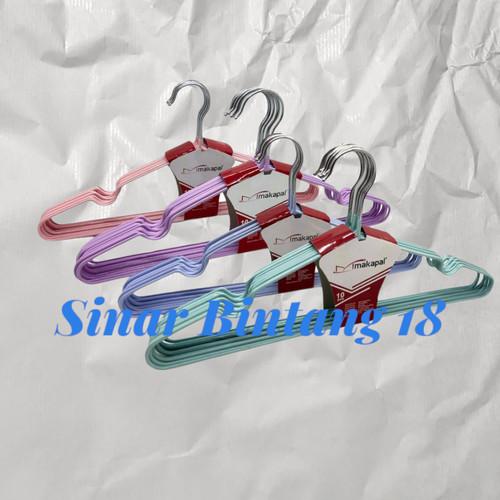 Foto Produk Hanger Baju Makapal 1 Pack @ 10 pcs - Merah Muda dari Sinar Bintang 18
