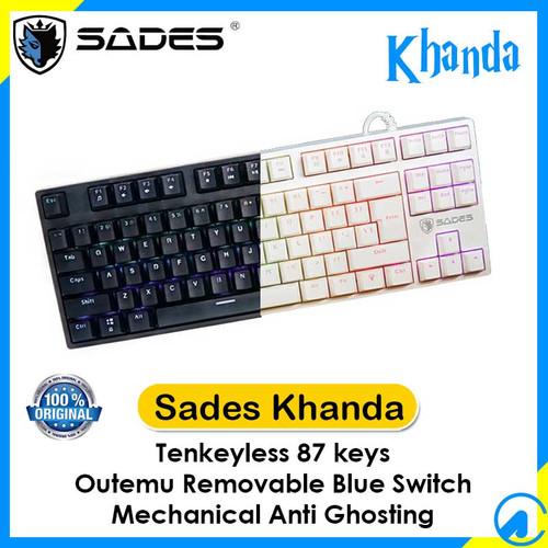 Foto Produk Sades Khanda TKL RGB Mechanical Gaming Keyboard Outemu Blue Switch - Hitam dari Artica Computer