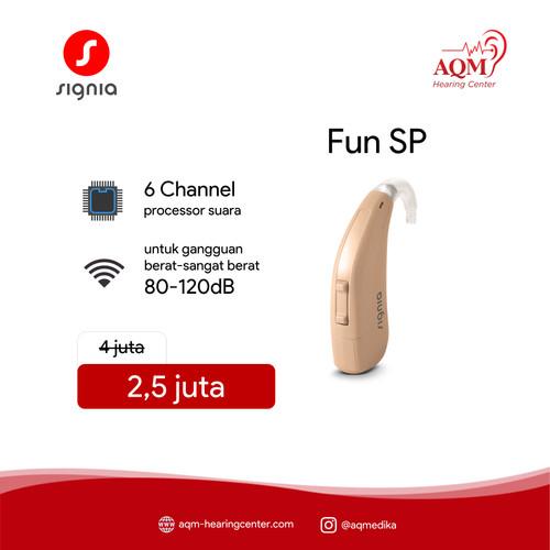 Foto Produk Alat Bantu Dengar New Signia Fun P by Siemens BTE 90-110dB 6 Channel - SP dari AQM Serpong BSD Tangerang