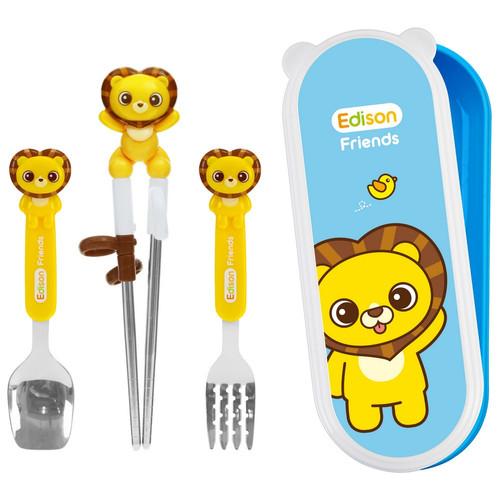 Foto Produk Edison Stainls Chopstick Spoon Fork Case - Lion dari Marveila & Friends