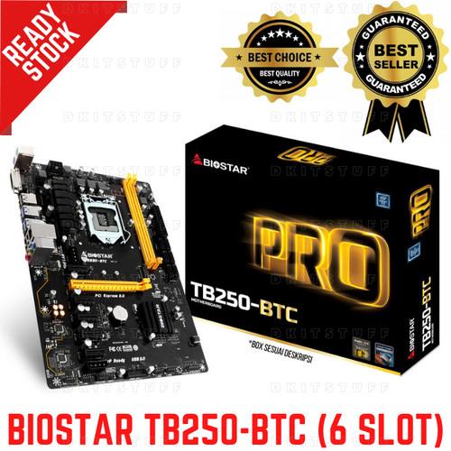 Foto Produk BIOSTAR TB250-BTC Intel B250 LGA1151 DDR4 ATX Mining Motherboard dari dkitstuff