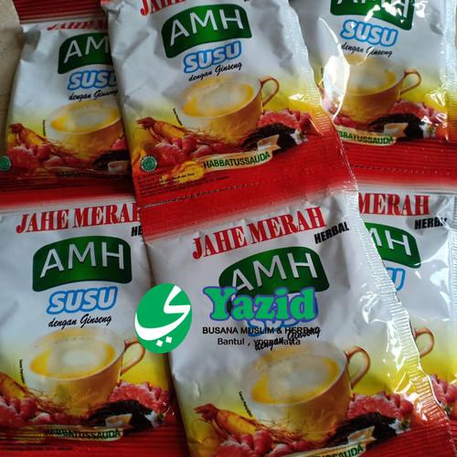 Foto Produk Jahe Merah AMH Susu Dengan Ginseng Dan Habbatussauda 100% original dari Yazid Bantul