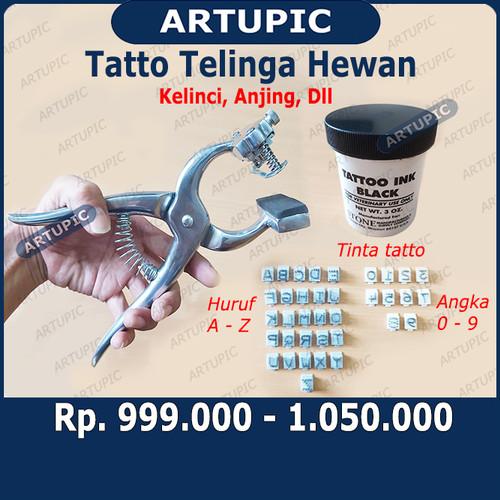 Foto Produk Set Komplit Alat Tatto Tato Telinga Kelinci Anjing Kambing Hewan dari ArtupicPeralatanPeternak