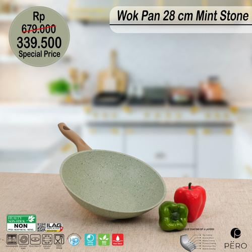 Foto Produk PERO WOK PAN 28CM BROWN HANDLE - MINT STONE dari Pero Indonesia