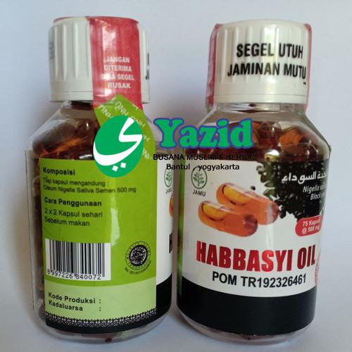Foto Produk Habbasyi oil HNU NIAGA UTAMA 75 kapsul 75 kps 100% ASLI dari Yazid Bantul