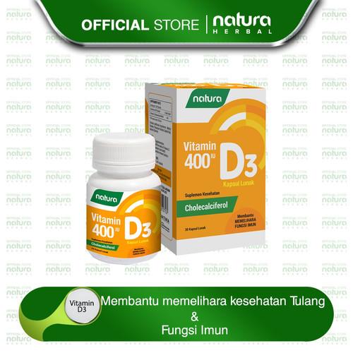 Foto Produk Natura Vitamin D3 400 IU Kapsul Lunak dari naturaherbal