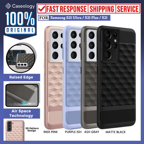 Foto Produk Case Samsung Galaxy S21 Ultra Plus Caseology Paralax Dual Layer Casing - 21 Plus, Matte Black dari Caseology Official Shop