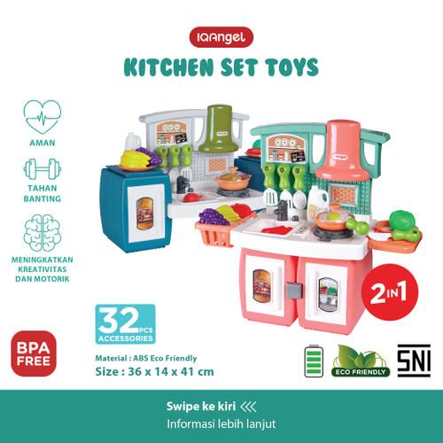 Foto Produk IQAngel Kitchen Set Toys / Mainan Alat Masak Anak / Mainan Masakan - Random dari KSM Baby and Kids